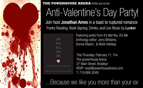 anti valentines day nyc anti s day thursday february 11 7 9pm