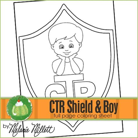 lds coloring pages ctr shield ctr shield boy printable coloring page coloring pages i