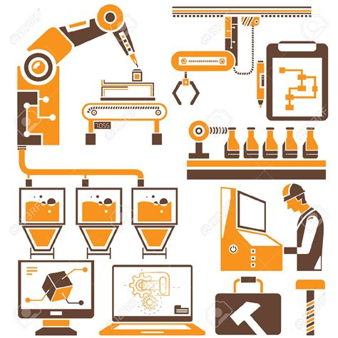 manufacturing clipart industrial clipart factory production line pencil and in