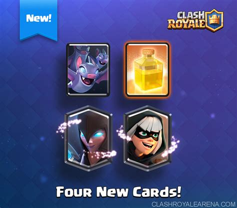 Clash Royale Gift Card - 4 new cards bandit night witch bats and heal spell clash royale guides