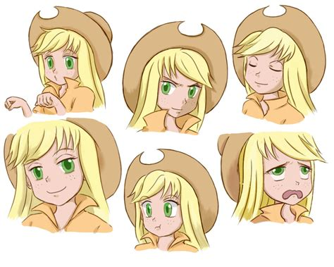 mlp applejack human mlp applejack pony human facial expression by pennygu on