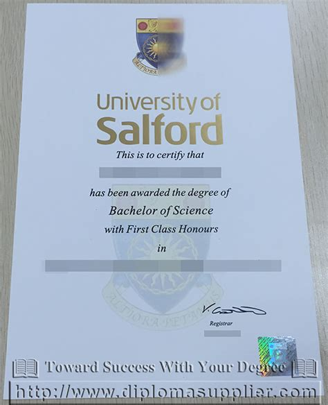Free Mba Degree Uk by High Quality Diploma From Of Salford