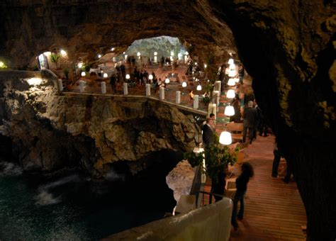 hotel ristorante grotta palazzese the seaside restaurant set inside a cave 171 twistedsifter