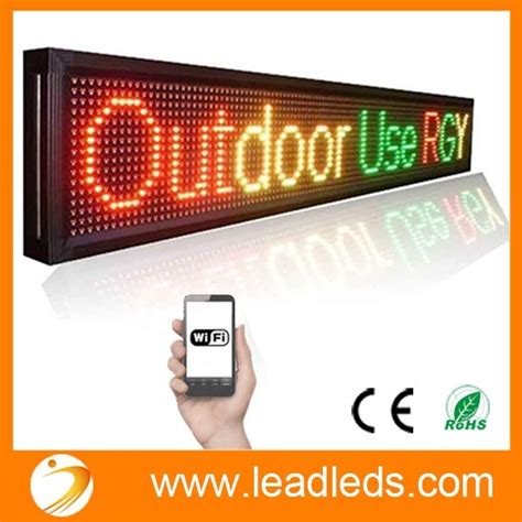 outdoor wifi led lights outdoor waterproof running text line wifi programmable led