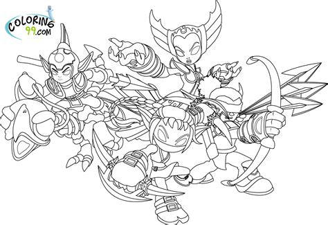 Coloring Pages Skylanders skylanders coloring pages team colors