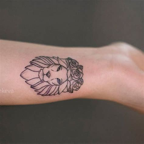 small lion tattoo small ideas lions