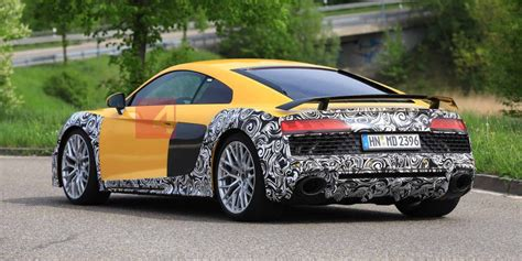2020 Audi R8 E by Spied 2020 R8 Hiding Skimpy Cammo Fourtitude