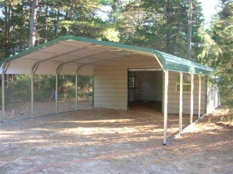 carport garage kombination regular style end storage carport combo carports