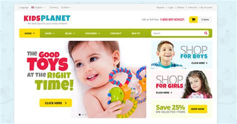 20 Awesome Kids Website Themes And Templates Flashuser Premade Website Templates