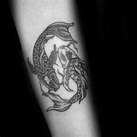 harry styles yin yang tattoo 40 yin yang koi fish tattoos for men cosmic force ink ideas