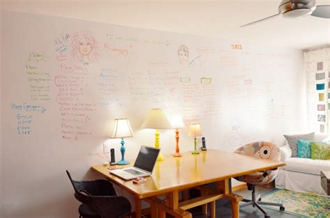 Diy Whiteboard Wall Write On Your Walls Brit Co Whiteboard For Room