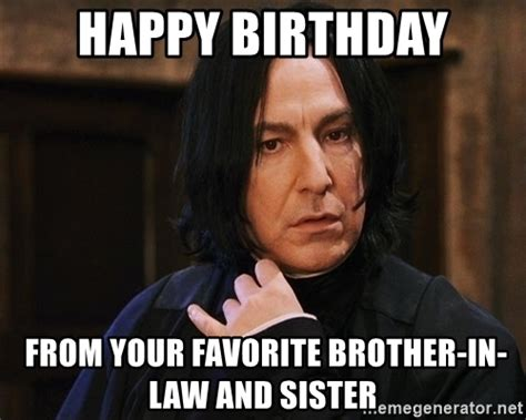 Happy Birthday Brother Meme - happy birthday brother in law meme