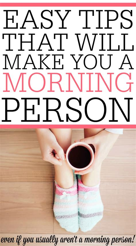 5 easy tips that will make you a morning person frugally