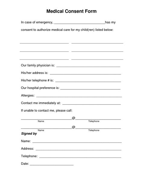 consent form template free free printable consent form free consent