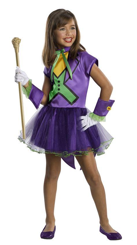 girls fancy dress halloween costumes the costume land kids joker super villain girls costume 37 99 the