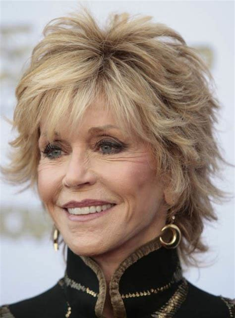 Jane Fonda Short Natrual Straight Layered Synthetic Hair Capless Wig 8 Inches: wigsbuy.com