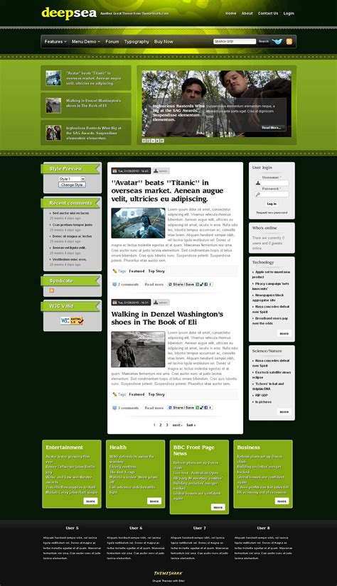 drupal themes development deepsea premium drupal 6 x theme from themeshark