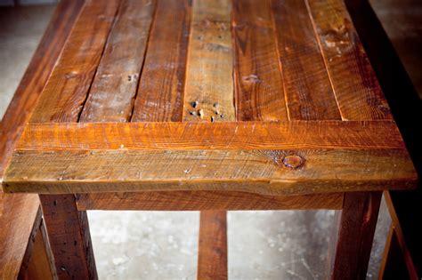 reclaimed wood farm table  start  finish