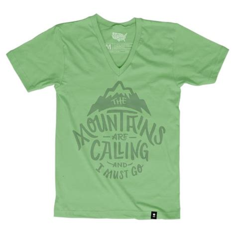 City Bch V Neck Tshirt Putih Size L the mountains are calling and i must go t shirt stately type
