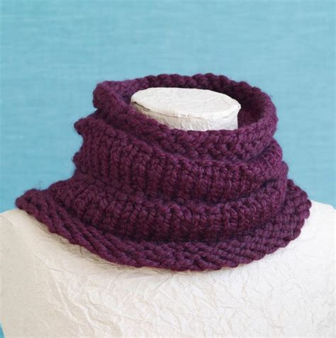 cowl loom knitting pattern 12 best loom knitting for charity images on