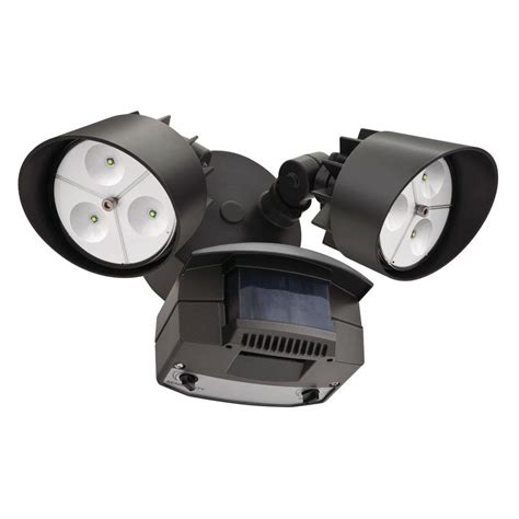 Led Outdoor Motion Sensor Light Lithonia Lighting Bronze Motion Sensing Outdoor Led Flood Light Oflr 6lc 120 Mo Bz