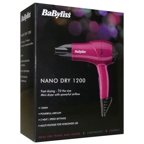 Babyliss Hair Dryer Overheating babyliss 5282bau nano hair dryer 1200 variable heat and