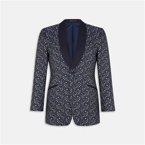 Kaos Armani Us Army turnbull asser exclusive shattered dreams navy and silver silk tuxedo jacket in gray for