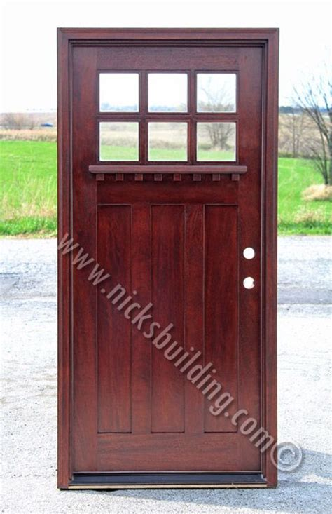 Exterior Door Stain Colors Country Style Front Door In A Mahogany Stain Color Bought At Www Nicksbuilding