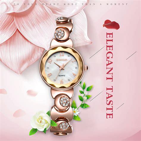 Harga Jam Tangan Wanita Merk Quartz weiqin jam tangan analog rhinestone wanita w4763