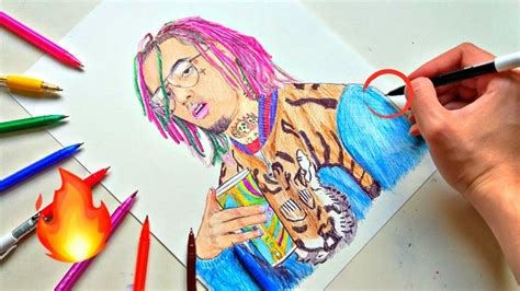 Drawing 6ix9ine by Drawing Lil With Ballpoint Pen