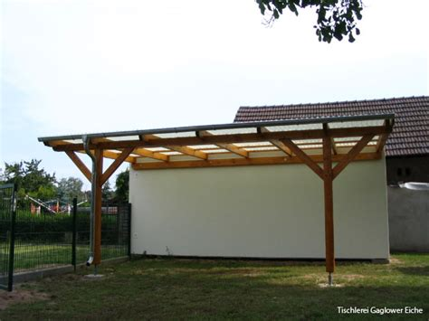 carport seitenverkleidung einfacher carport holz kunststoffdach