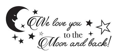 Wall Stickers Nursery Uk we love you to the moon and back