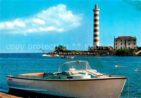 motorboot italien ak ansichtskarte lido di jesolo il faro leuchtturm