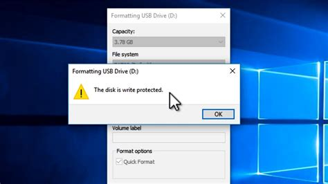 format flash disk the disk is write protected how to fix the disk is write protected error from any
