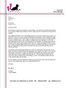 Format for business letter on letterhead with modified style format