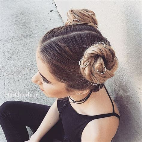 Two Buns Hairstyle Hair by 1635 Best Images About Hair Styles Forever On