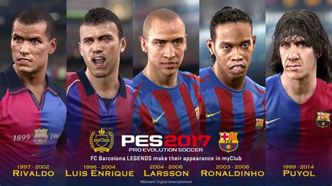 barcelona legend pro evolution soccer 2017 official website