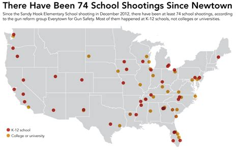 map us schools killing our children 74 school shootings in 18 months