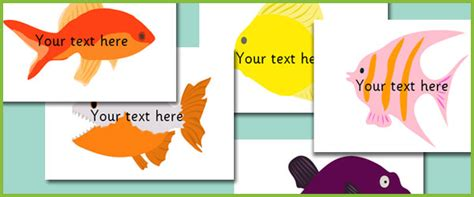 Fish Pictures Editable Text Free Early Years Primary Editable Fish Template