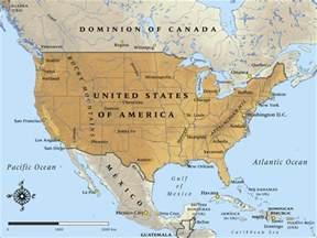 abd kanada meksika haritası