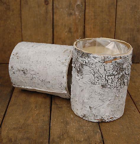 How To Make Birch Bark Vases by White Birch Bark Cylinder Vase 6in