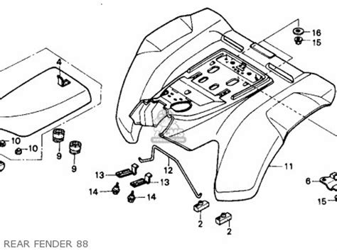1988 honda fourtrax 300 wiring diagram trx 300 rear