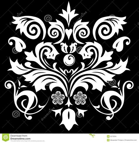 symmetrical design symmetrical pattern white color stock illustration image