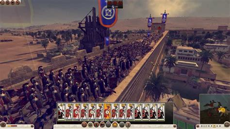 total siege total war rome 2 the siege of alexandria gameplay