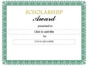 scholarship award certificate template free scholarship award certificate free certificate templates