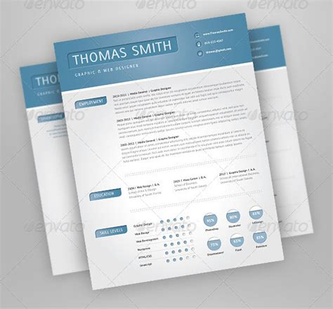 27 Creative Photoshop & InDesign Resume Templates   Wakaboom