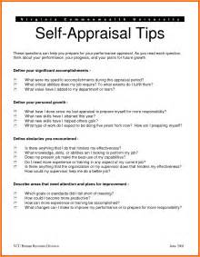 Appraisal Recommendation Letter From Superior 5 Self Appraisal Exles Cook Resume