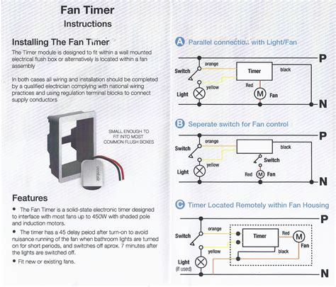7 minute delayed timer for axial exhaust fans