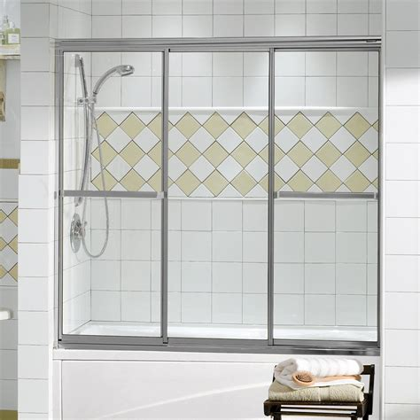 Tub Shower Doors Lowes Maax 138400 Maax Plus 3 Panel 59 5 X 56 Tub Door
