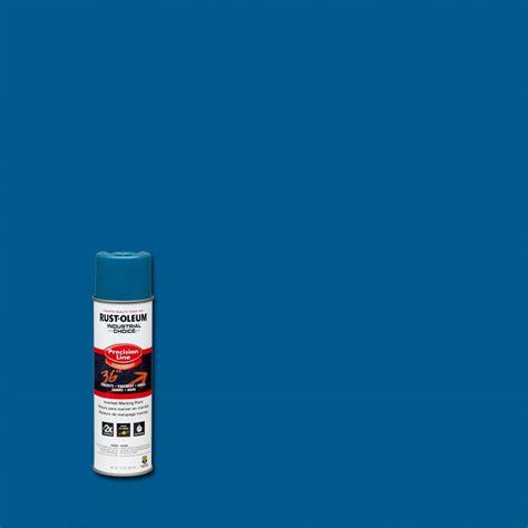 home depot spray paint blue rust oleum industrial choice 17 oz caution blue inverted